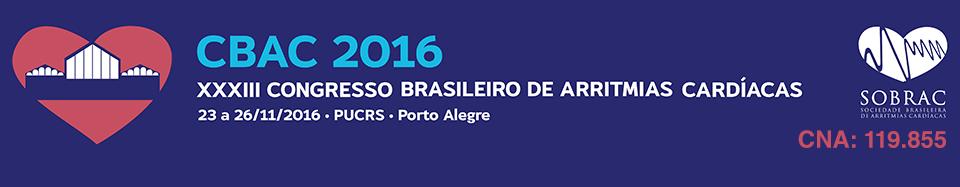 XXXIII Congresso Brasileiro de Arritmias Cardíacas