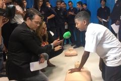 Ação na Escola da Comunidade de Vila Andrade - Colégio Visconde de Porto Seguro, em São Paulo